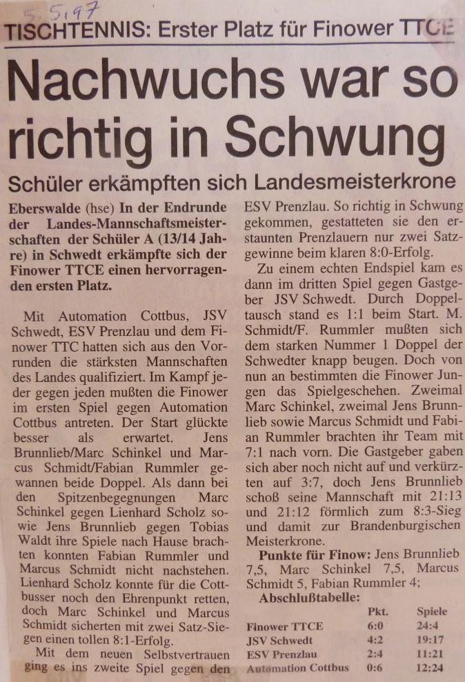 1997_05_05 Nachwuchs war so richtig in Schwung (Landesmannschaftsmeister)