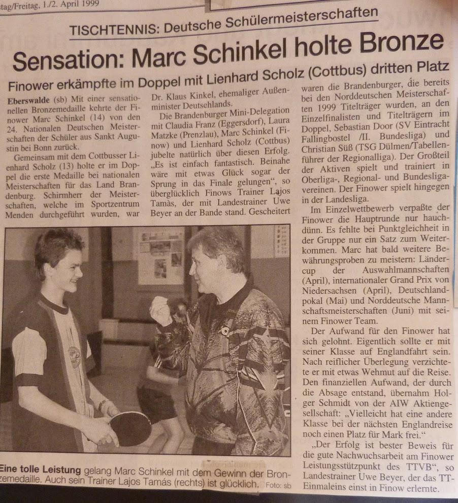 1999_04_02 Sensation – Schinkel holt Bronze (im Doppel bei DEM)