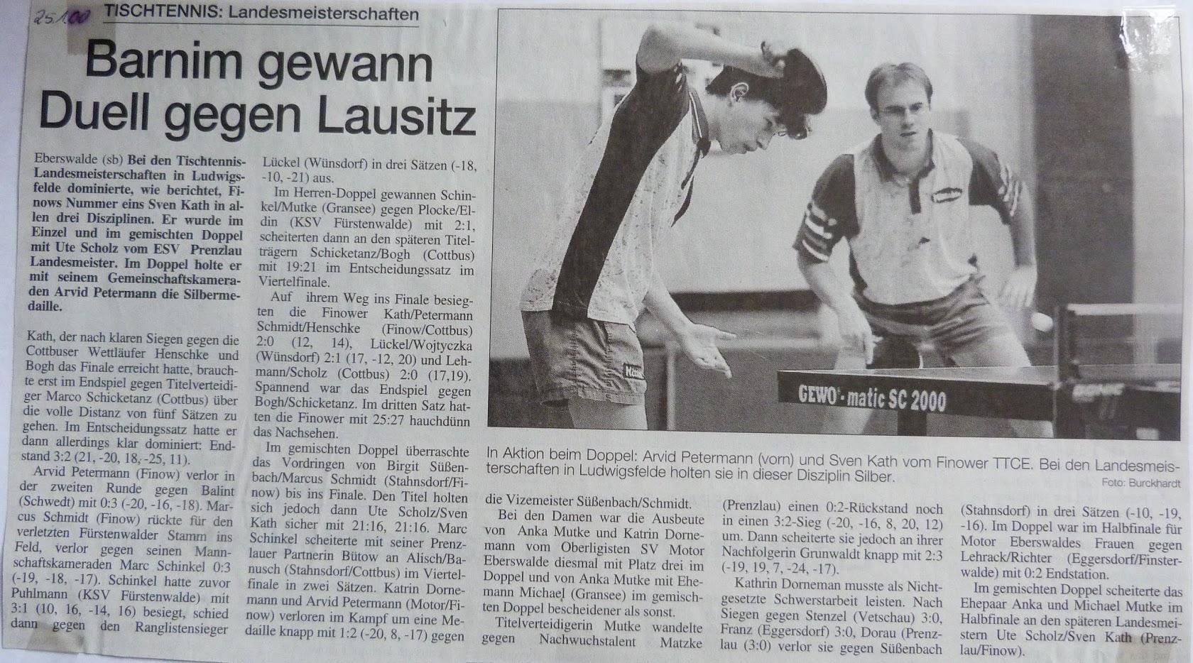2000_01_25 Barnim gewann Duell gegen Lausitz (LEM)